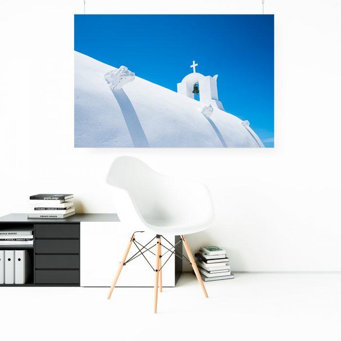 Wandbild: Santorini blau 1