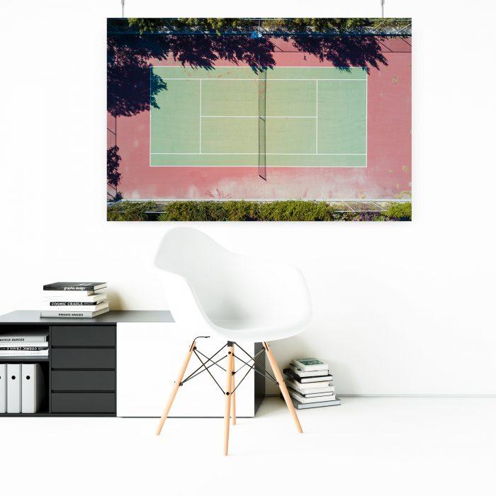 Wandbild: Tennisplatz 1