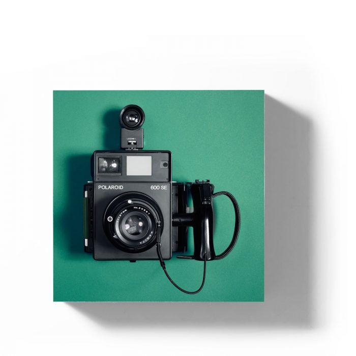 Holzbild Polaroid 600SE grün 1