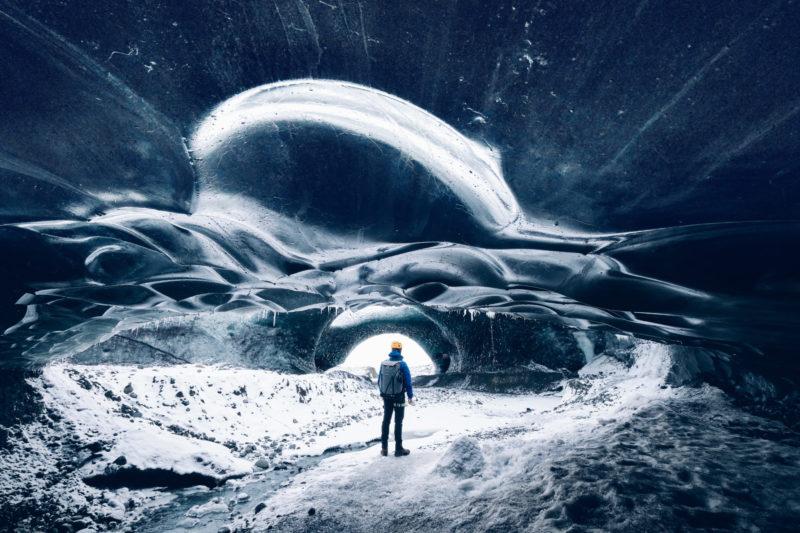 Landschaftsfotografie in Island in einer Eishöhle