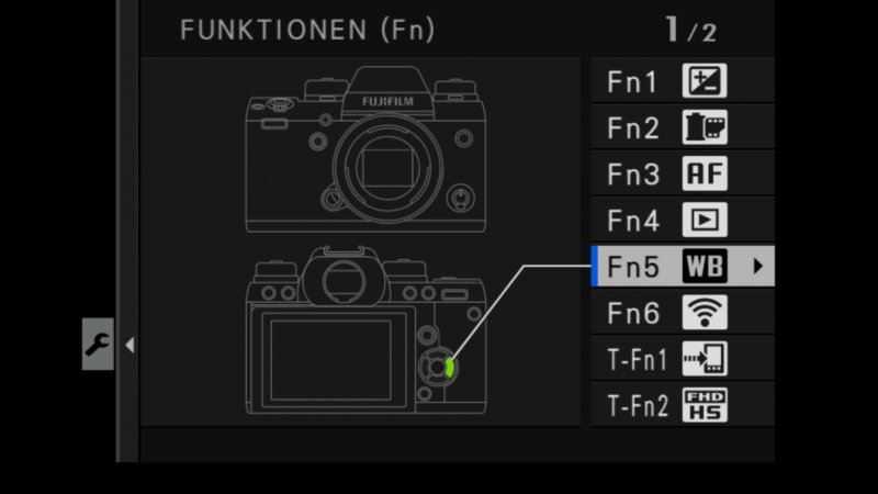 Fujifilm X-H1 EInstellnugen Custom Function Buttons