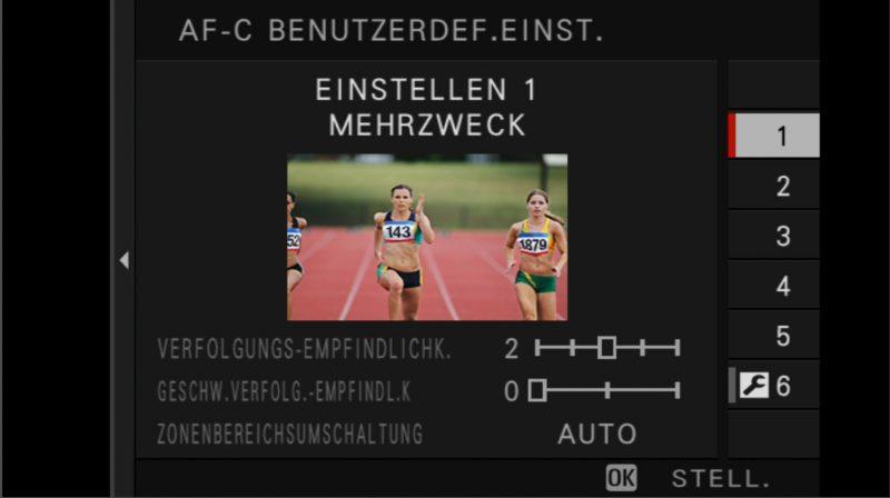 Fujifilm X-H1 Einstellungen AF-C